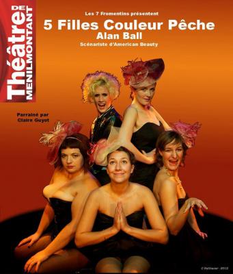 Cinq filles couleur pêche