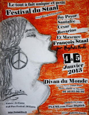 François Staal au Divan du Monde