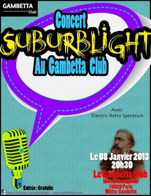Concert de Suburblight au Gambetta Club