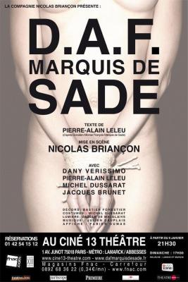 DAF, Marquis de Sade au Ciné 13 Théâtre