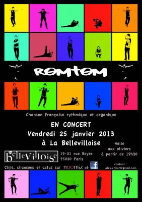 Romtom en concert à la Bellevilloise
