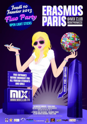 Erasmus Paris : Fluo Party