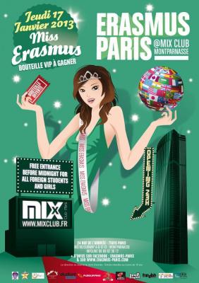 Erasmus Paris : Miss Erasmus