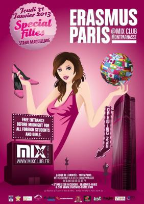 Erasmus Paris : Soiree Speciale Filles