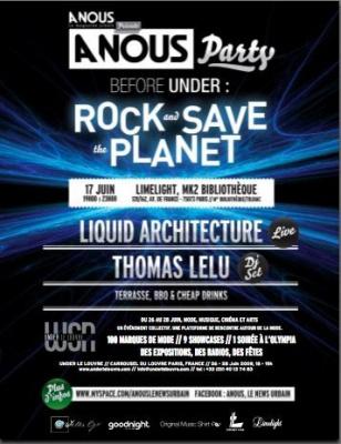 Rock & Save the Planet, A Nous Party, Paris, Limeline, Under le Louvre