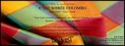 Le Jeudi C'EST SOIREE COLOMBO !