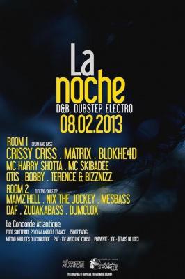 La Noche (Dubstep, DnB, Electro / 2 Rooms)