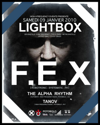 Lightbox, High Frequency, Soirée, OPA, Paris