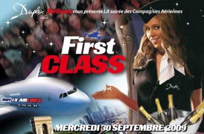 First class compagnies aériennes Duplex