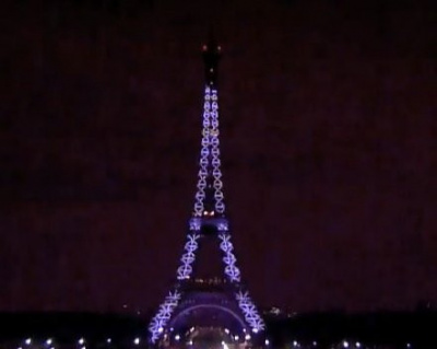 Tour eiffel illuminee