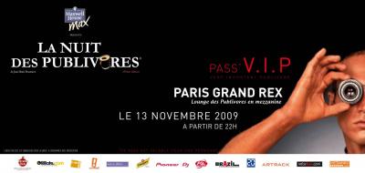 Carton VIP Nuit des publivores 2009