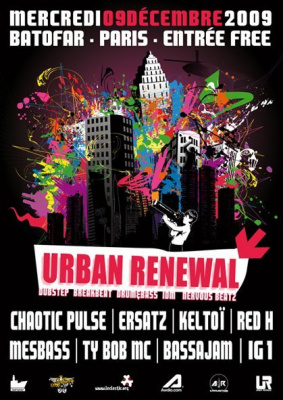 Urban Renewal, Chaotic Pulse, Batofar, Soirée, Paris