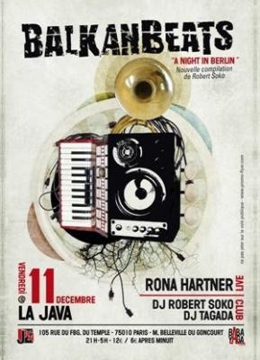 Balkanbeats, Europe de l'Est, Dj Tagada, Soirée, Paris