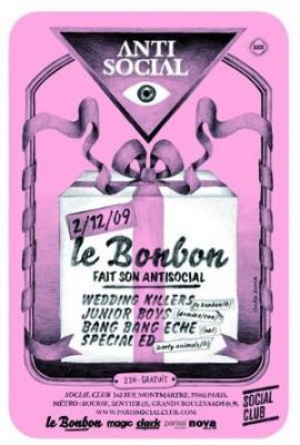 Bonbon, Antisocial, Social Club, Soirée, Paris