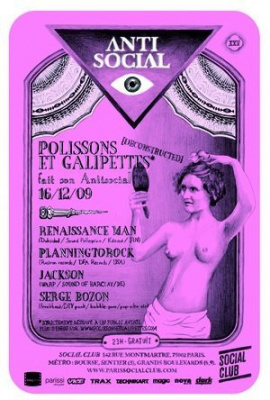 Polissons & Galipettes, Antisocial, Social Club, Soirée, Paris