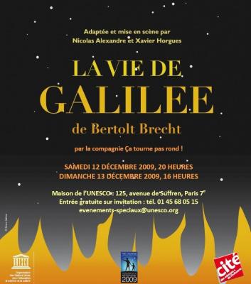 Vie de Galilée, Spectacle, Astronomie, Paris, Unesco