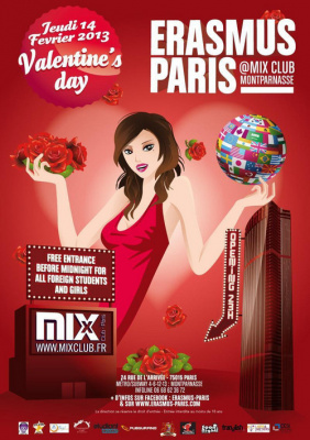 Erasmus Paris : Valentine's Day