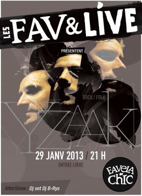 Yzaak en concert à la Favela Chic !