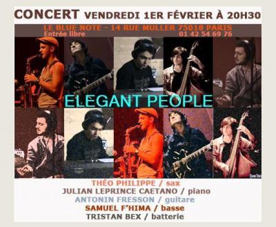 ELEGANT PEOPLE - Lancement du nouveau groupe jazz fusion