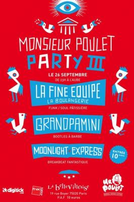 Chiken Party, Soirée, Bellevilloise, Paris, Monsieur Poulet