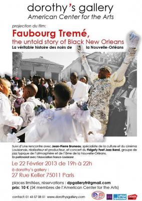 PROJECTION du film Faubourd Tremé, La véritable histoire des Noirs de New Orleans