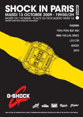 Shock The World, Casio, Shock in Paris, G Shock, musée de l'homme, Soirée, Paris