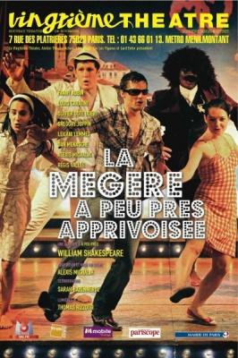 La Mégère à peu près apprivoisée, William Shakespeare, Alexis Michalik, Spectacle, 20ème Théâtre