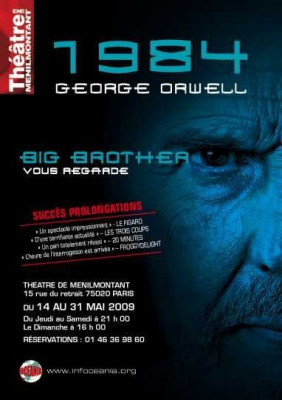 1984, Big Brother, George Orwell, Spectacle, Théâtre, Ménilmontant, Paris