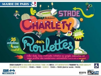 Charléty sur roulettes, Stade Charlety, Sports, Paris, Vacances