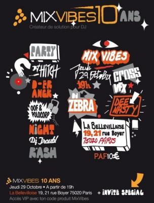MixVibes, Zebra, Dee Nasty, Troubl, Soirée, Paris, Bellevilloise