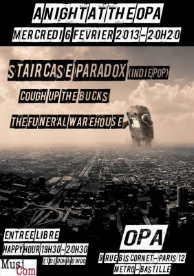 Staircase Paradox en concert à L'Opa le 6 fevrier