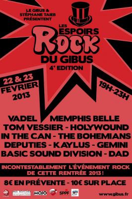 Les Espoirs Rock du Gibus - 4ème Edition