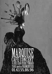 marquise, café concert, carte de visite