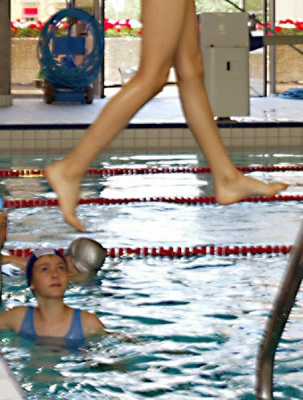 jambes, piscine