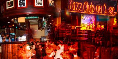 le baiser salé, club de jazz, bois