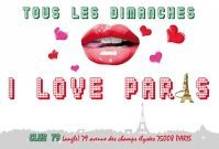 bouche, baiser, coeur, i love paris