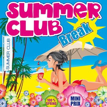 summer club, summer break, plage, summer, flyer, back up