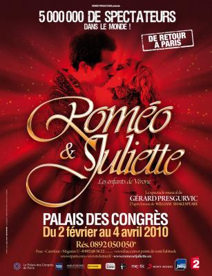 Roméo & Juliette, Spectacle Musical, Shakespeare, Gérard Presgurvic, Palais des Congres