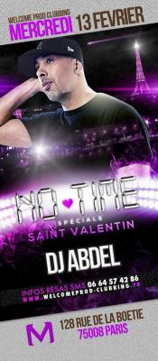 NO TIME SPECIAL ST VALENTIN avec DJ ABDEL @ MADAM