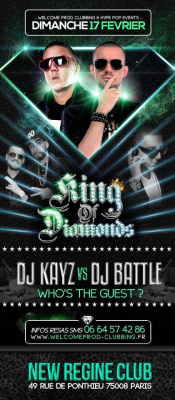 ??Ce Dimanche 17/02 DJ BATTLE (officiel DJ LA FOUINE) VS DJ KAYZ best DJ rai'nb @ NEW REGINE ??