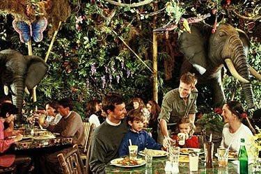 rainforest café restaurants Disney Village les restos où les enfants sont rois