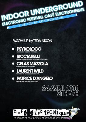 café électronique indoor underground electronic festival