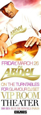 dj abdel vip room theatre