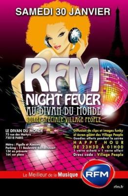 RFM Night Fever Village People Divan du monde