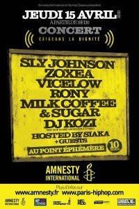 Concert Amnesty International Exigeons la Dignité