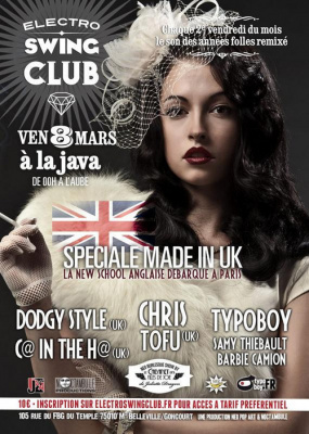 ELECTRO SWING CLUB DE PARIS - VEN 8 MARS 2013
