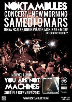 100e concert Kidibuzz : Noktambules + Alee + Boris Viande