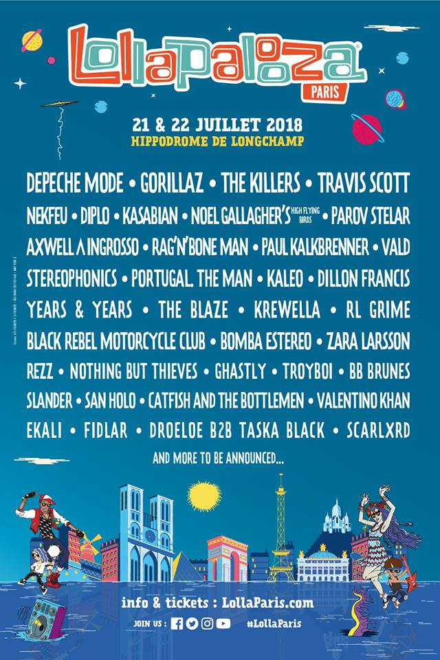 Well-known Lollapalooza Paris 2018: dates and lineup - Sortiraparis.com WY59
