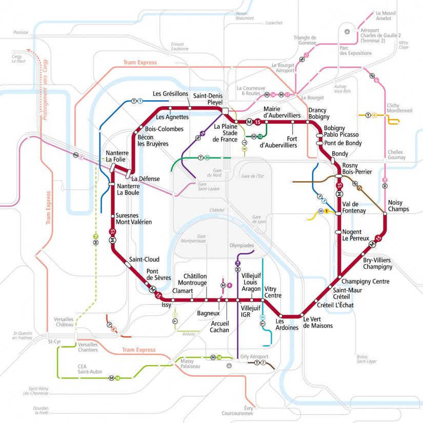 Le tracé de la ligne 15 du métro Grand Paris Express approuvé ...