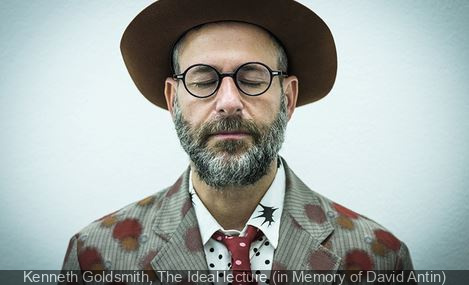 Parades for FIAC 2017 : Kenneth Goldsmith, The Ideal lecture (in Memory of David Antin)